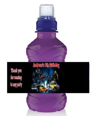 Transformers Bottle Label Wrapper.